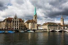 Paesaggio urbano di Zurigo Fotografia Stock Libera da Diritti