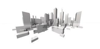 Paesaggio urbano focale estremo - orizzonte Immagini Stock