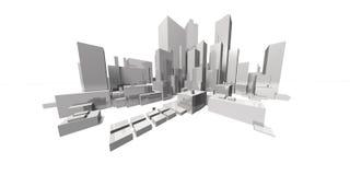 Paesaggio urbano focale estremo - orizzonte Immagini Stock Libere da Diritti