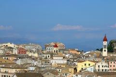 Paesaggio urbano Grecia della città di Corfù immagine stock