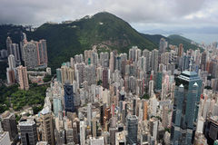 Paesaggio urbano a Hong Kong Fotografie Stock Libere da Diritti