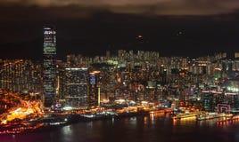 Paesaggio urbano a Hong Kong fotografia stock libera da diritti