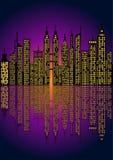 Paesaggio urbano - illustrazione di vettore Fotografie Stock Libere da Diritti