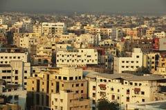 Paesaggio urbano indiano all'alba fotografia stock libera da diritti