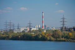 Paesaggio urbano industriale di Dniepropetovsk fotografie stock libere da diritti