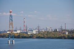 Paesaggio urbano industriale di Dniepropetovsk immagini stock libere da diritti
