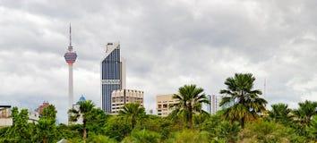 Paesaggio urbano in Kuala Lumpur, Malesia Fotografie Stock Libere da Diritti