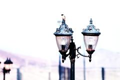 Paesaggio urbano Lampada di via fotografia stock