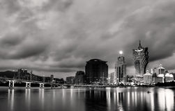 Paesaggio urbano in Macao Fotografia Stock