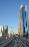 Paesaggio urbano, metropolitana, Dubai Fotografie Stock Libere da Diritti