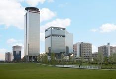 Paesaggio urbano moderno immagini stock