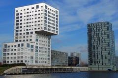 Paesaggio urbano moderno di Almere - orizzonte della costruzione di appartamento Fotografia Stock Libera da Diritti