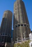 Paesaggio urbano moderno e vecchio di Chicago del centro delle costruzioni Immagini Stock