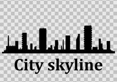 Paesaggio urbano moderno Illustrazione di vettore Il silhouette royalty illustrazione gratis