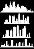 Paesaggio urbano moderno Illustrazione di vettore Il silhouette illustrazione vettoriale