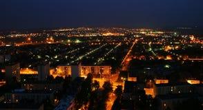Paesaggio urbano nella notte Immagine Stock Libera da Diritti