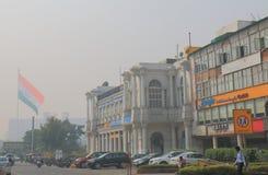 Paesaggio urbano Nuova Delhi India del posto di Connaught Immagini Stock Libere da Diritti