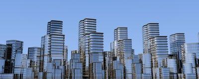 Paesaggio urbano, orizzonte moderno Immagine Stock Libera da Diritti