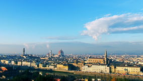 Paesaggio urbano panoramico di Firenze Italia leftward stock footage