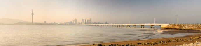 Paesaggio urbano panoramico in Macao fotografie stock libere da diritti