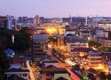 Paesaggio urbano a penombra in Sabah, Borneo Immagine Stock Libera da Diritti