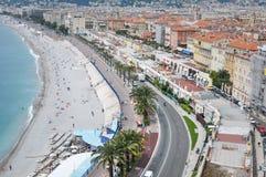 Paesaggio urbano piacevole, Riviera francese Immagine Stock