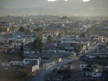 Pomeriggio polveroso di Juarez Messico fotografia stock libera da diritti