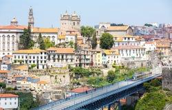 Paesaggio urbano Portogallo di Oporto Fotografie Stock Libere da Diritti