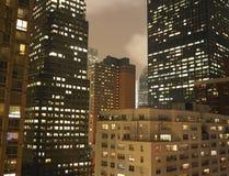 Paesaggio urbano scuro Fotografia Stock