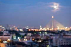 Paesaggio urbano Tailandia del fondo della sfuocatura Immagini Stock