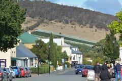 Paesaggio urbano Tasmania Australia di Richmond Town immagine stock libera da diritti