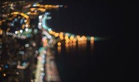 Paesaggio urbano vago dell'estratto di Chicago del bokeh fotografie stock