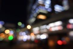 Paesaggio urbano vago di defocus della luce notturna della città fotografia stock libera da diritti