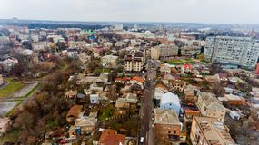 Paesaggio urbano Vinnytsia, Ucraina Fotografia Stock