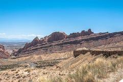 Paesaggio Utah lungo 70 da uno stato all'altro Immagini Stock Libere da Diritti
