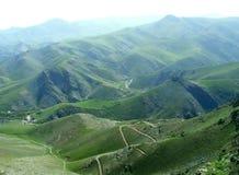 Paesaggio Uzbekistan della montagna Fotografie Stock Libere da Diritti