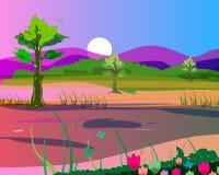 Paesaggio variopinto Fotografia Stock
