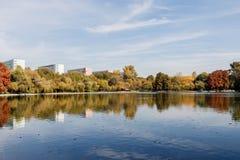 Paesaggio variopinto di autunno Fotografia Stock