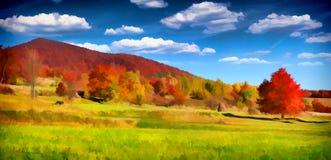 Paesaggio variopinto di autunno nelle montagne fotografie stock