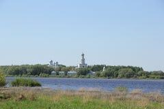 Paesaggio in Velikiy Novgorod Fotografie Stock