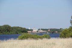 Paesaggio in Velikiy Novgorod Fotografia Stock Libera da Diritti