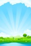 Paesaggio verde Immagini Stock