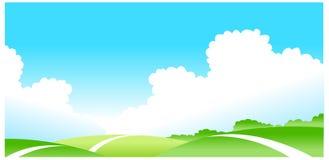 Paesaggio verde Immagine Stock