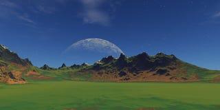 Paesaggio verde illustrazione di stock