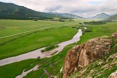 Paesaggio verde di Altay. Fotografie Stock