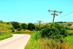Paesaggio verde di estate nella Transilvania Fotografia Stock