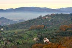 Paesaggio verde italiano in Toscana, Italia Immagini Stock Libere da Diritti