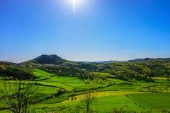 Paesaggio verde in montagne di Alvao, Portogallo fotografie stock libere da diritti