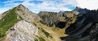 Paesaggio vicino al cielo blu di Oberstdorf Fotografie Stock