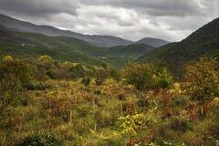 Paesaggio vicino al san Naum macedonia fotografie stock